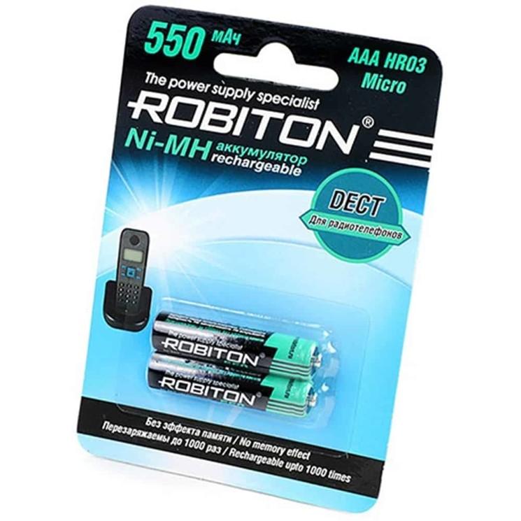 Аккумулятор для радиотелефонов Robiton R03 550mAh Ni-MH BL-2 (50)(200)